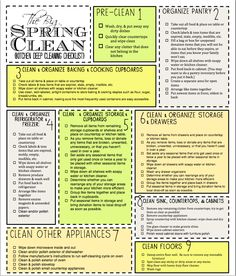 The Big Spring Clean {Kitchen Deep Cleaning Checklist}