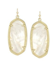 Elle Earrings in Ivory Pearl - Kendra Scott Jewelry #kendrascott #teamKS