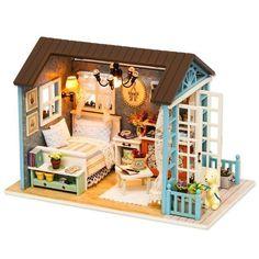Dollhouse Toys, Wooden Dollhouse, Dollhouse Miniatures, Wooden Dolls, Dolls And Dollhouses, Miniature Rooms, Miniature Furniture, Dollhouse Furniture, Kit Homes
