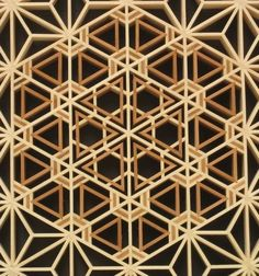 Repetitive design using the Flower of Life motif.: