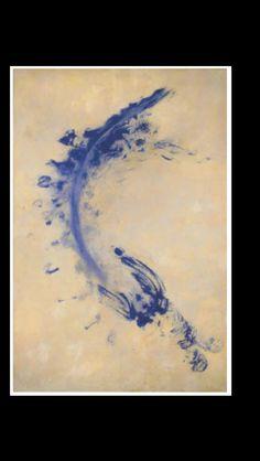 "Yves Klein - "" ANT 173 "", 1961 - Pigment  on paper - 187 x 125,5 cm"
