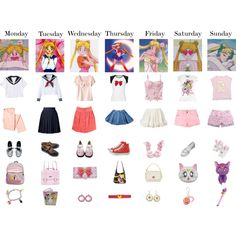Sailor Moon inspired outfits - Polyvore