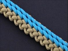 How to Make the Rolling Shore Waves (RSW) Sinnet (Paracord) Bracelet by TIAT - YouTube