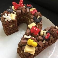 home decor vintage Number Birthday Cakes, Minnie Mouse Birthday Cakes, Minnie Cake, Baby Birthday Cakes, Number Cakes, Mouse Cake, Sweet Cakes, Cute Cakes, Cake Designs For Girl