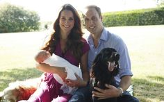 Sun and heir: Mr Middleton opted to shoot straight into the light for his snapshot of the Duke and Duchess of Cambridge and baby George