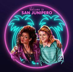 San Junipero love is love Black Mirror Netflix art artbysatine