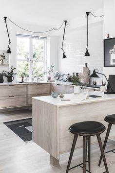 Scandinavian kitchen with breakfast bar