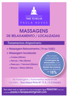 Promoção na Revista Zen Energy - Março!!!!!!! :) Massagem de Relaxamento