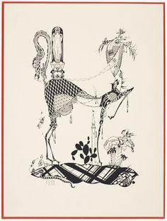 Julius Klinger, Stylized horse with woman, probably lady godiva,1924