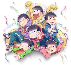 あなたたちです!! むつごちゃんお誕生日おめでとうございます!うまれてきてくれてありがとう!だいすきです 出会えて本当によかったです  おまけで立体視も作ってみました。2p目は平行法(右目で右の Onii San, Ichimatsu, Pin Art, All Anime, Hunter X Hunter, South Park, Pokemon Go, Chibi, Brother