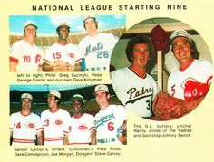 The Big Red Machine was well represented in the '76 All-Star Game.