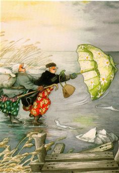 inge look skating on lake umbrella Old Lady Humor, Art For Art Sake, Historical Pictures, Whimsical Art, Funny Art, Art Boards, Cute Art, Illustrations Posters, Watercolor Art