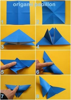A very simple origami butterfly. All you need is square origami paper.Paper butterfly during 3 minutes Origami Yoda, Dragon Origami, Instruções Origami, Origami Star Box, Origami Ball, Origami Fish, Origami Butterfly, Origami Folding, Useful Origami