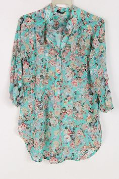 Floral Turquoise Shirt