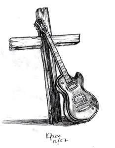 Guitar And Cross By Stylistic Division On DeviantART