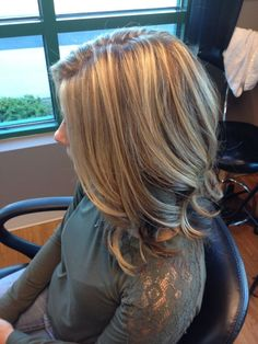 Blonde highlights brown hair underneath  I'm hoping to achieve this buttery blonde by sally tb