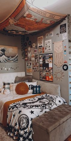 Room Design Bedroom, Room Ideas Bedroom, Small Room Bedroom, Bedroom Decor, Indie Room Decor, Teen Room Decor, Aesthetic Room Decor, Cozy Room, Dream Rooms