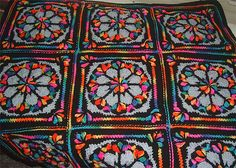 Ravelry: Stain Glass Tree of Life Afghan Square pattern by Edie Snyder