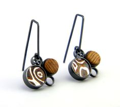 eric burrin,Disc Cluster Earrings by EricBurrisJewelry on Etsy, $150.00
