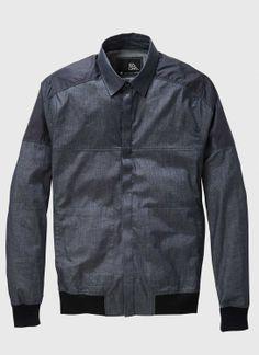 Chambray Indigo Hybrid Overshirt | ISAORA