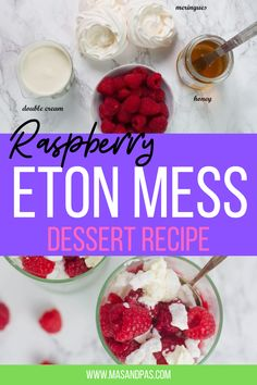 Raspberry Eton Mess is a twist on the classic. No bake, individually sized and ready in 5 minutes, these are the perfect make ahead Summer dessert for the whole family. No great skill needed to create a perfectly presented Eton mess. You just bung all the ingredients in a bowl and mix it up! #raspberries #raspberryetonmess #etonmess #fruitydessert #summerdessert Easy Family Meals, Dinners For Kids, Kids Meals, Baking Recipes For Kids, Baking With Kids, Toddler Snacks, Easy Snacks, Meringue, Eton Mess