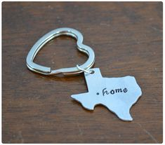 Aluminum State Keychain - Customized Keyring - great as a housewarming gift for someone moving states!