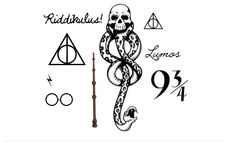 8 Harry Potter Temporary Tattoos - SmashTat by SmashTat on Etsy https://www.etsy.com/listing/170856854/8-harry-potter-temporary-tattoos