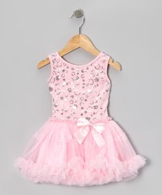 Love this Pink Sequin Polka Dot Pettiskirt Dress - Infant, Toddler & Girls by Sparkle Adventure on #zulily! #zulilyfinds