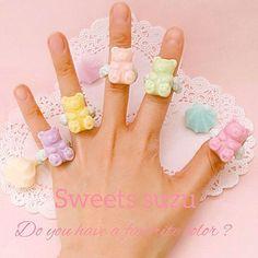 #http://ameblo.jp/s-sweets-10/ Sweets suzu (clay artist ) gummybears cream ring  #Sweetsdeco#handmade#me#gummybears#gummy#pastelcolor#pic#photooftheday#instagood#instagramjapan#yumekawa#kawaii#ameblo#ring#ゆめかわ#カワイイ#パステルカラー#リング#グミ#グミベアー#東京#日本#