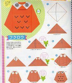 MARIA DOBRADURA: AINDA DIA DAS MÃES - ORIGAMI DE BORBOLETAS 3 E 4 E DE QUEBRA ORIGAMI DE MÃE E AVÓ CORUJA Origami Paper Folding, Kids Origami, Origami And Kirigami, Modular Origami, Easy Origami, Origami Owl Instructions, Origami Diagrams, Wood Badge, Math Crafts