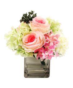 Love this Mixed Roses & Hydrangea Arrangement on #zulily! #zulilyfinds