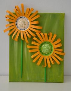 Sonnenblumen aus Bierdosen / Sunflowers made from beer cans / Upcycling