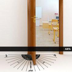 (3815n) #Nálepka na #podlahu - Uhly #artsablony #uhol