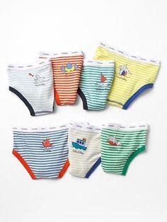Ocean days-of-the-week underwear (7-pack)