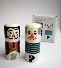salvador dali salt and pablo picasso pepper! from Her Library Adventures..