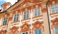 Prague Rococo Architecture | Kinsky Palace Detail