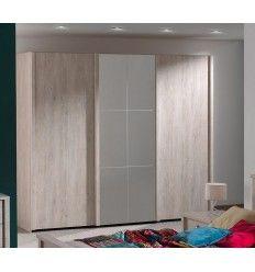 1 porte de placard coulissante valla acacia 62 2 x 245 6 cm castorama - Porte garde robe coulissante mesure ...