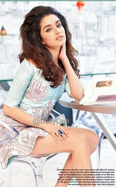 Actress Shraddha Kapoor is the new cover girl of the entertainment magazine Hello India July She started her career as a role of college girl Bollywood Images, Indian Bollywood, Bollywood Stars, Bollywood Fashion, Beautiful Bollywood Actress, Beautiful Indian Actress, Beautiful Actresses, Indian Celebrities, Bollywood Celebrities