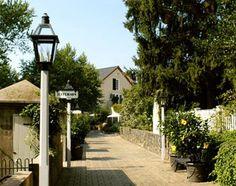 The Inn at Montchanin Village in Delaware - so quaint, lovely gardens & tiny buildings