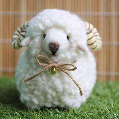 """Haga que esta linda oveja llamada Ramie, el tamaño es de 6 """"x 4"""" x 5 """"(H). Lindo, agradezca tan para el xox de la parte"""