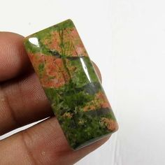 35.40Cts. AWESOME! NATURAL UNAKITE CABOCHON OCTAGON SHAPE LOOSE GEMSTONE UN-20 #Unbranded