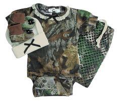 Baby Girls Camouflage Diaper Shirt Gift Set - Baby & Kids