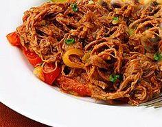 "Panamanian Dish: ""Ropa Vieja"" (old clothes beef)"