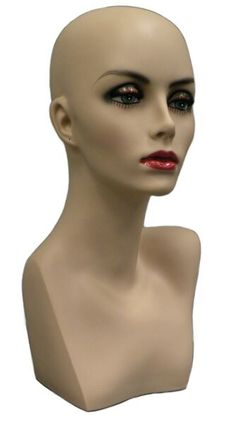 Female Mannequin Head Bust Wig Hat Jewelry Display #TinaF3