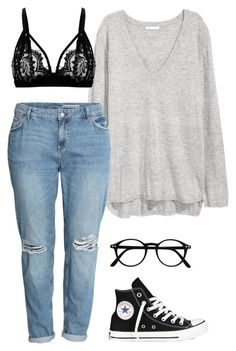 """""""#215"""" by mintgreenb on Polyvore featuring H&M and Converse"""