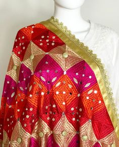 Bridal Phulkari Dupatta♥️ one pc in stock. DM us for more info. To shop online visit our website www.PinkPhulkari.com