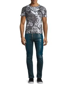 Just Cavalli  Eagle-Print Short-Sleeve T-Shirt, Black