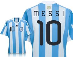 Support your Albicelestes in World Cup 2010 with the Argentina Home Messi Soccer  Jersey along with your favorite player s authentic name number. 80945e1d7