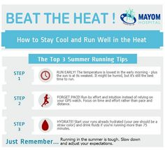 ‪#‎Summertips‬ on how to stay cool and run well in the heat ! ‪#‎mayomhospital‬