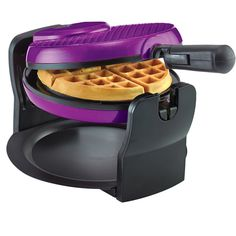 I would love to have a waffle maker. I love this purple Bella Rotating Waffle Maker, don't know if the brand is good Purple Home, Kitchen Items, Kitchen Gadgets, Kitchen Appliances, Kitchen Ware, Kitchen Stuff, Kitchen Decor, Shades Of Purple, Deep Purple